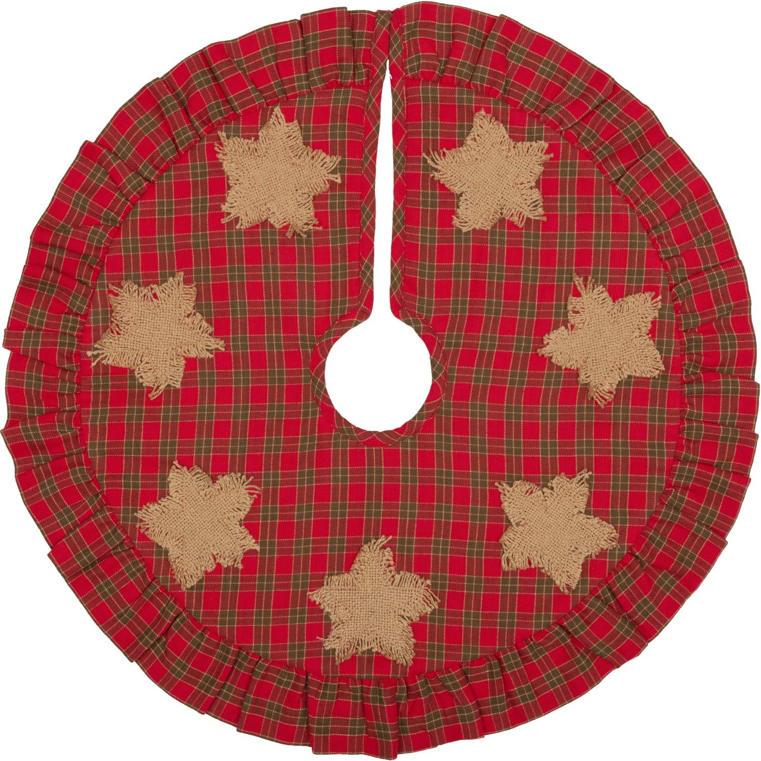 Amazon Com Vhc Brands Forreston Burlap Star Mini 21 Tree Skirt Diameter Red Home Kitchen,Farmhouse Country Kitchen Lighting