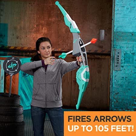 NERF Dude Perfect Signature Bow Sports Biggest Bow with 2 Whistling Arrows  for Kids, Teens, and Adults (Amazon Exclusive)
