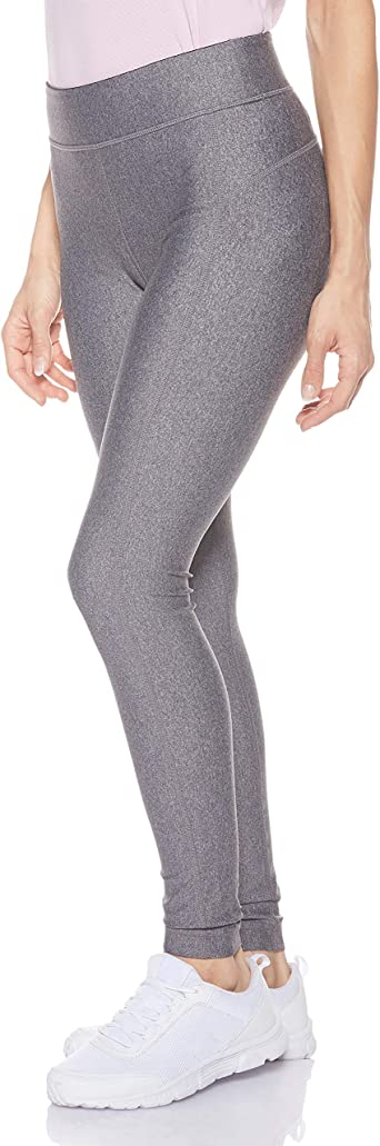 Grau Charcoal Light Heather//Metallic Silver 019 Under Armour Damen UA Heatgear atmungsaktive Leggings Medium