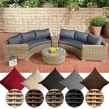 Best Clp Polyrattan Garten Lounge Set Rund Barbados X Ersofa With Rattan Garten  Lounge