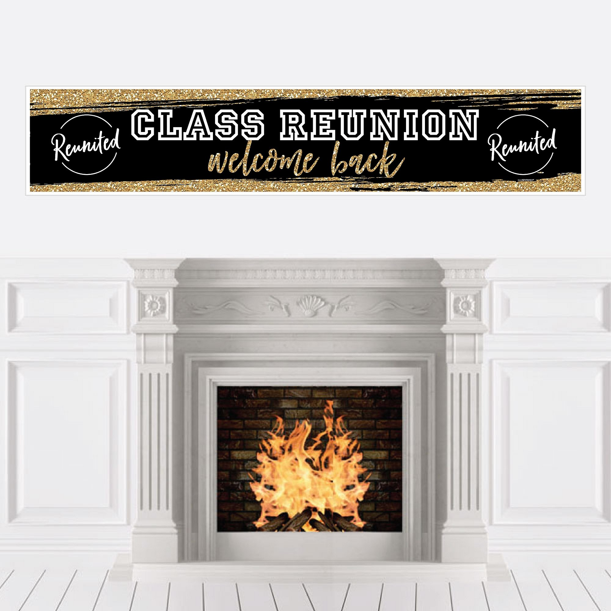 Big Dot of Happiness Reunited - School Class Reunion Party Decorations Party Banner