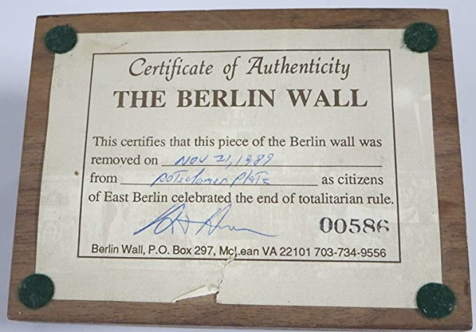 Amazon.com: PIECE OF THE BERLIN WALL 2\