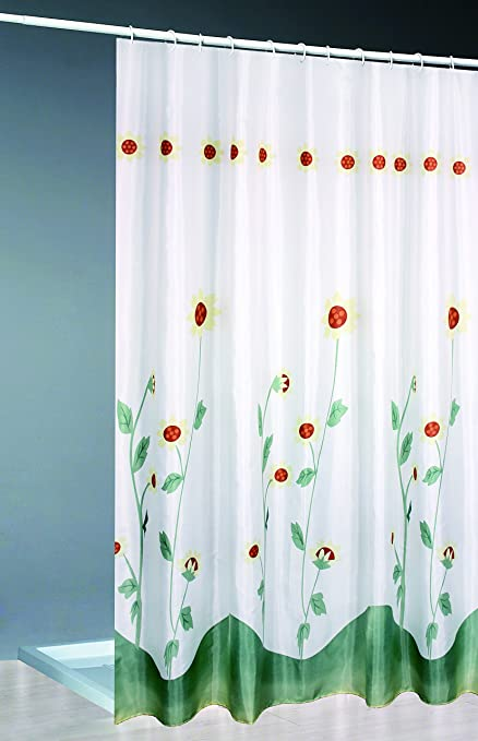 SANIPLAST Spring Shower Curtain Polyester Multicoloured 240 X 005 200 Cm