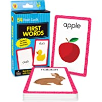 Image for Carson Dellosa First Words Flash Cards—Double-Sided, Common Words With Illustrations, Basic Animals, Food, Objects, Phonics and Reading Readiness Practice Set (54 pc)