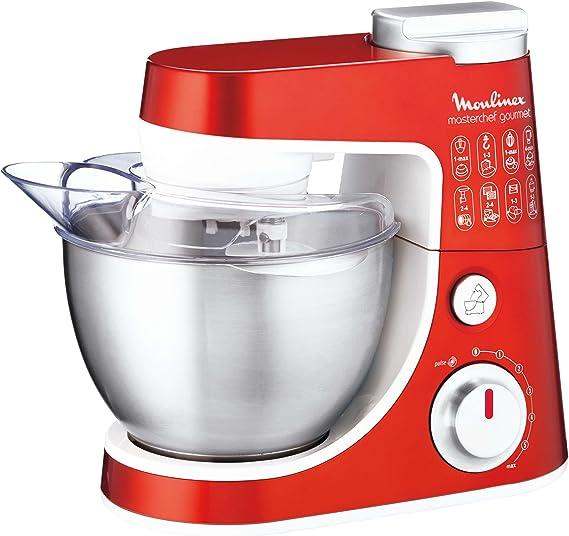 Moulinex Masterchef Gourmet, Rojo, Acero inoxidable, Blanco, Metal - Robot de cocina: Amazon.es: Hogar