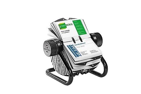 Schedario Ufficio Nero : Durable 248101 visifix rotary file schedario rotativo da