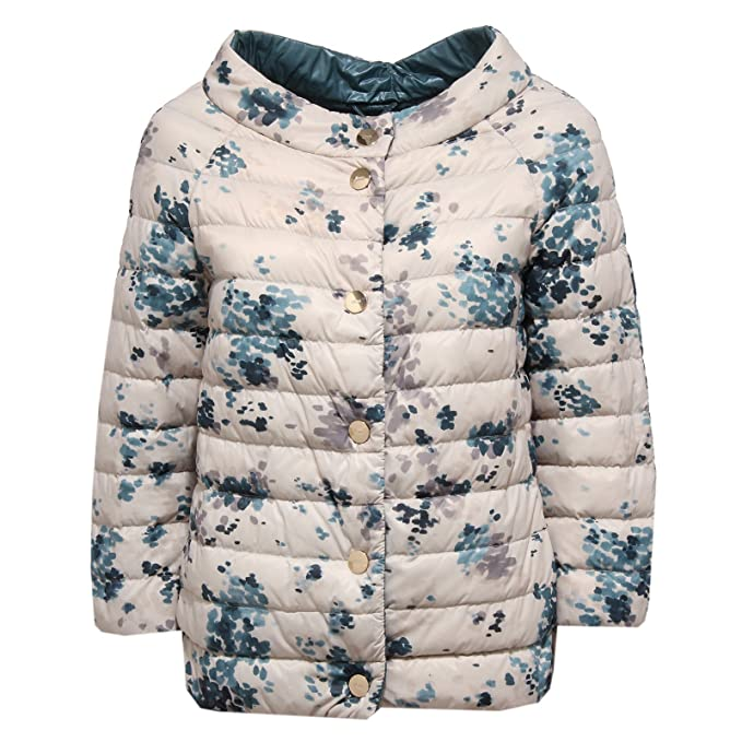Herno 0512W Piumino Donna Double Face Beige/Blue Ultra Light Jacket Woman [42]: Amazon.es: Ropa y accesorios