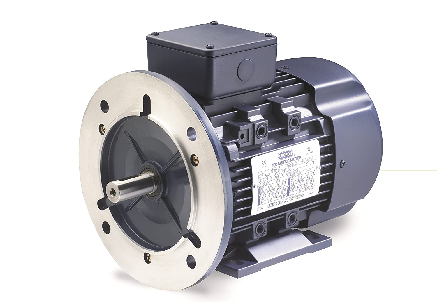 1HP Rigid Mounting 230//460V Voltage 3 Phase D90S Frame 60//50Hz Fequency C90T11FZ14A Leeson 192201.00 Rigid Base IEC Metric Motor 1200 RPM