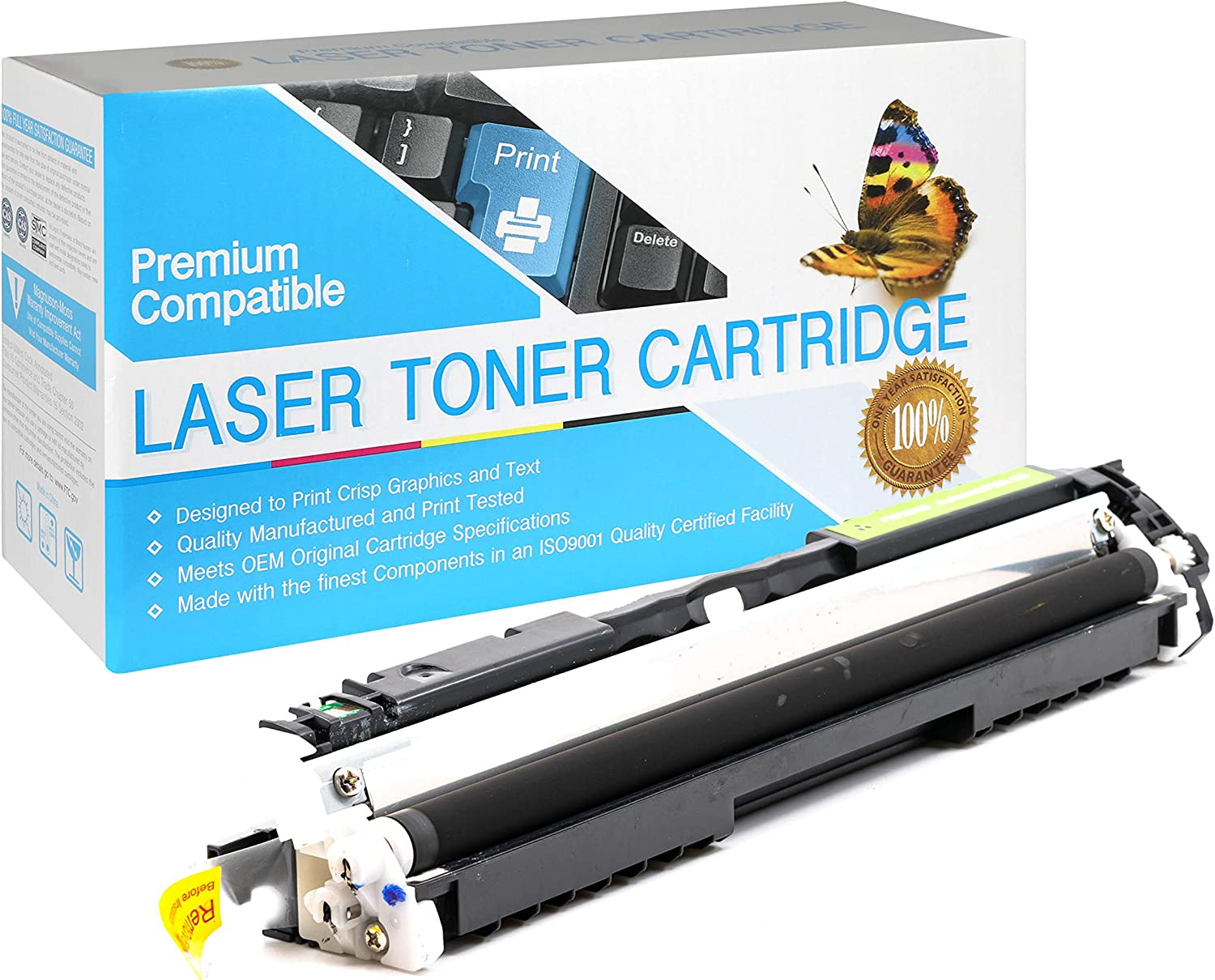 USA Advantage Compatible Toner Cartridge Replacement for HP 30A CF230A Black,1 Pack