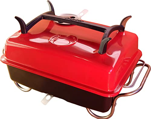 Raptor Grilling s Money Saving, Clean Hands, Large Portable Charcoal Grill -RED- VR10017AA