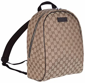 b058a4d06b7 Gucci GG Guccissima Backpack Rucksack Travel Bag (Beige Brown)  Amazon.in   Sports
