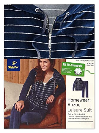 48595060b904ab Tchibo TCM Damen Lounge Nicki Homewear Anzug 36/38 S: Amazon.de ...