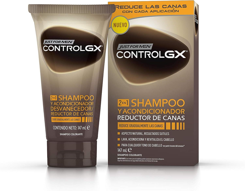Just For Men, Control GX Champú + acondicionador. Reduce las canas gradualmente. Resultado natural. 147 ml
