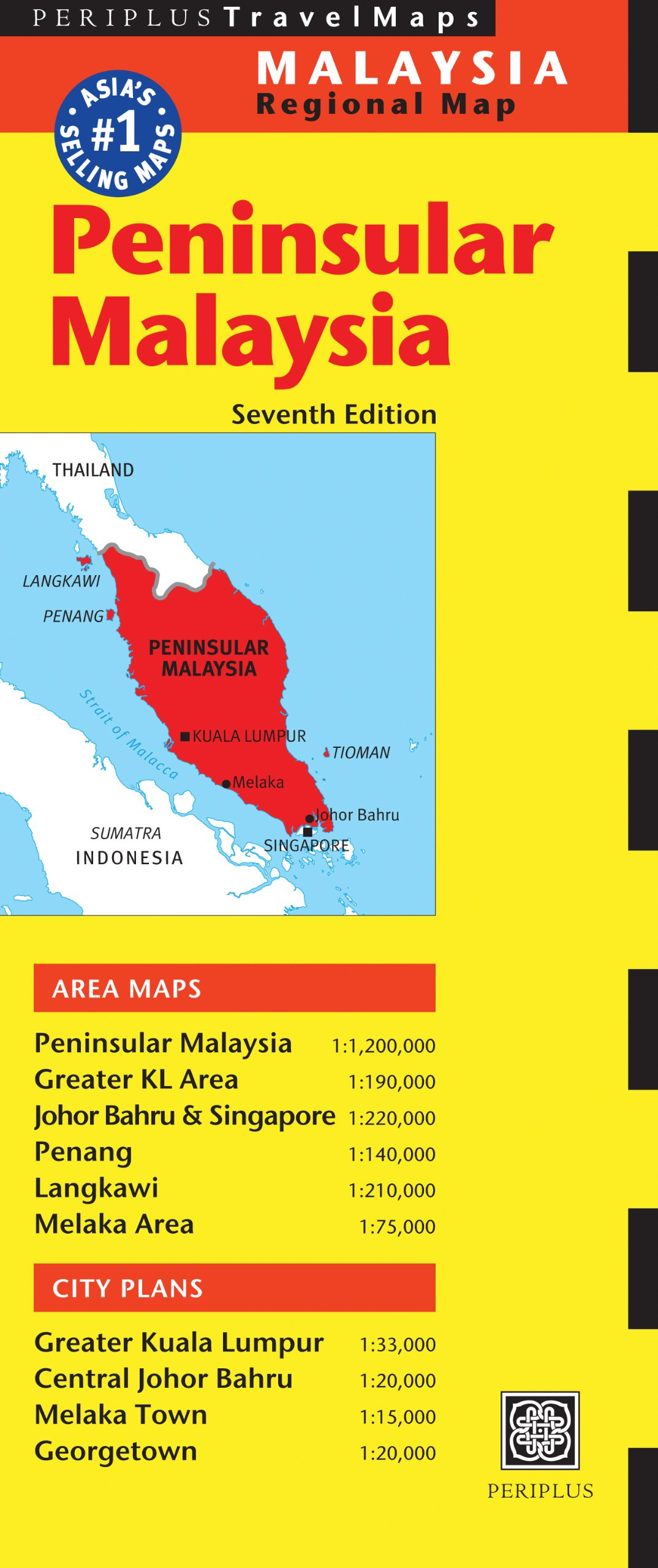 Peninsular Malaysia Travel Map Seventh Edition (Periplus Travel Maps)