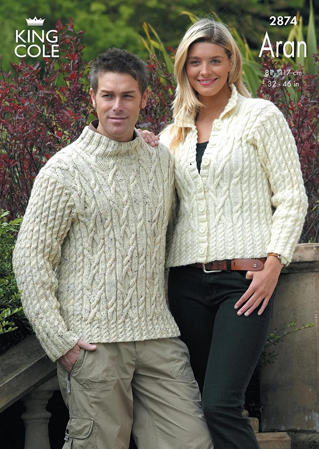 King Cole Fashion Aran Ladies & Mens Sweater & Jacket Knitting ...