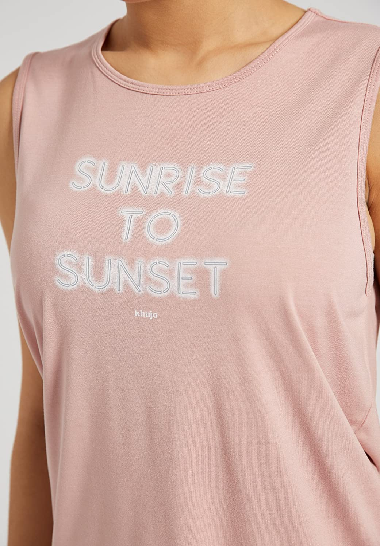 khujo Damen Top RIA Plissee Blumen Sommertop Transparenz Lagenlook kurzes Shirt