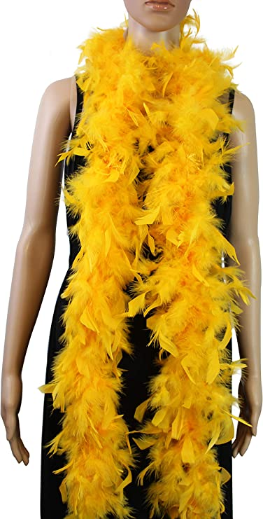 Costume//Bridal//Party 25 Pcs CHANDELLE 65 Gram FEATHER BOAS 2 Yards MANY COLORS!