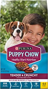 Purina Puppy Chow Tender & Crunchy Dry Puppy Food - 4.4 lb. Bags (Pack of 4)