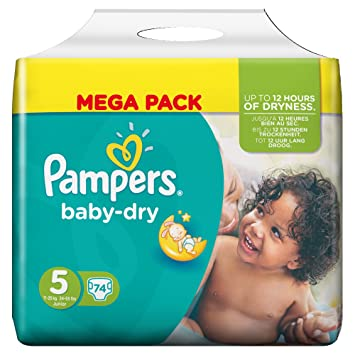 Pampers Baby Dry Couches Taille 5 11 25 Kgjunior Mega Pack De