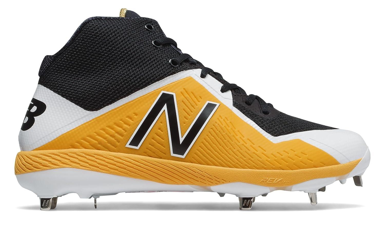 (ニューバランス) New Balance 靴シューズ メンズ野球 Mid-Cut 4040v4 Black with Yellow ブラック イエロー US 9 (27cm) B075P24RB2