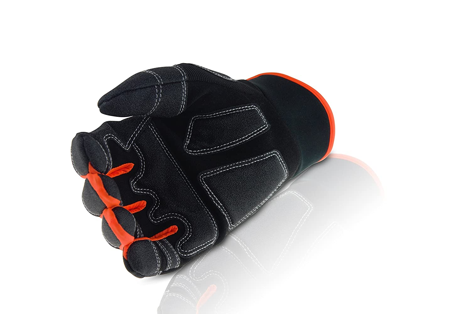 Superior Anti Slip Grip with a Cosy Fit for Better Handling and Control ToolFreak TF7 Fingerless Work Gloves Bonus Product Included Padded Palms to Better Absorb Vibration