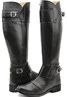 60fd3a833b5 FAMMZ Men s Man Desire Fashion Stylish Motorcycle Riding Leather Tall Knee  High Boots