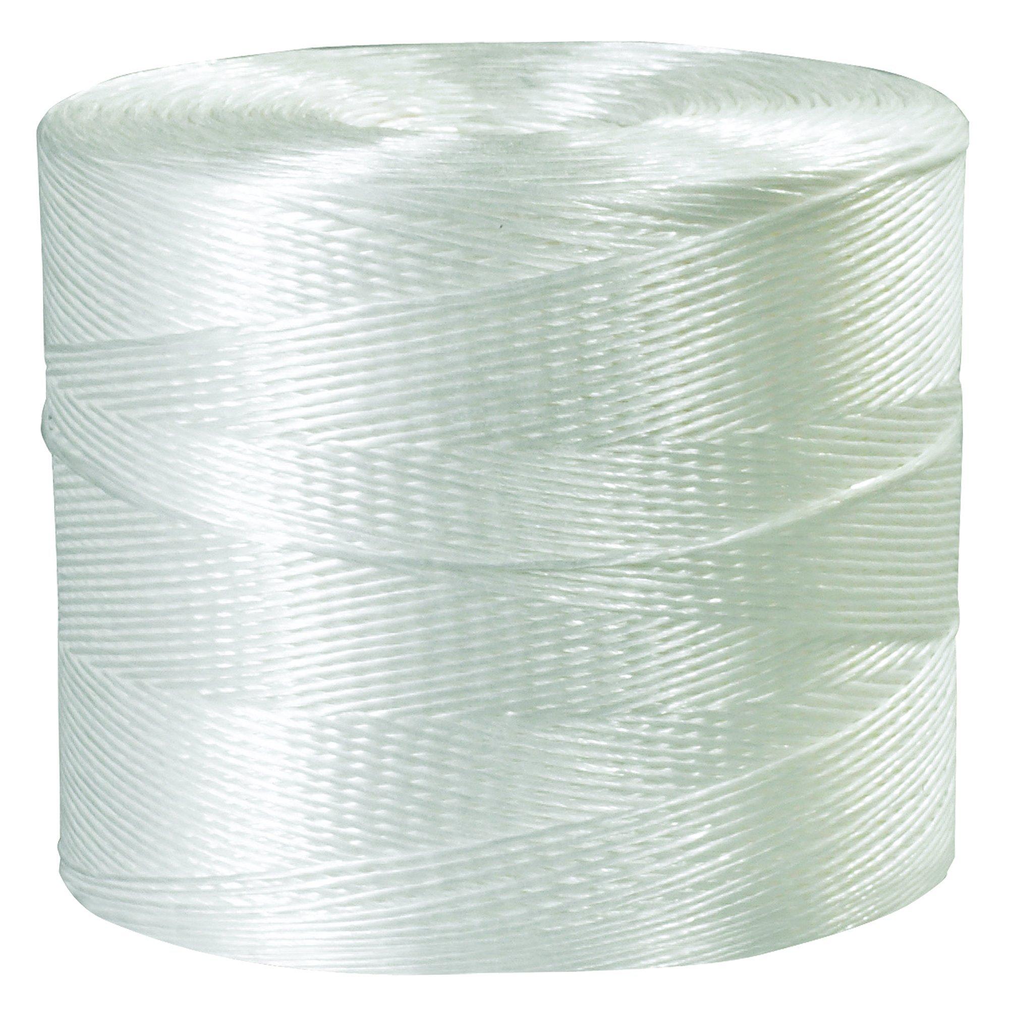 BOX USA BTWT1050 Polypropylene Tying Twine, 1-Ply, 110 lb, White, 10500' per Case by BOX USA