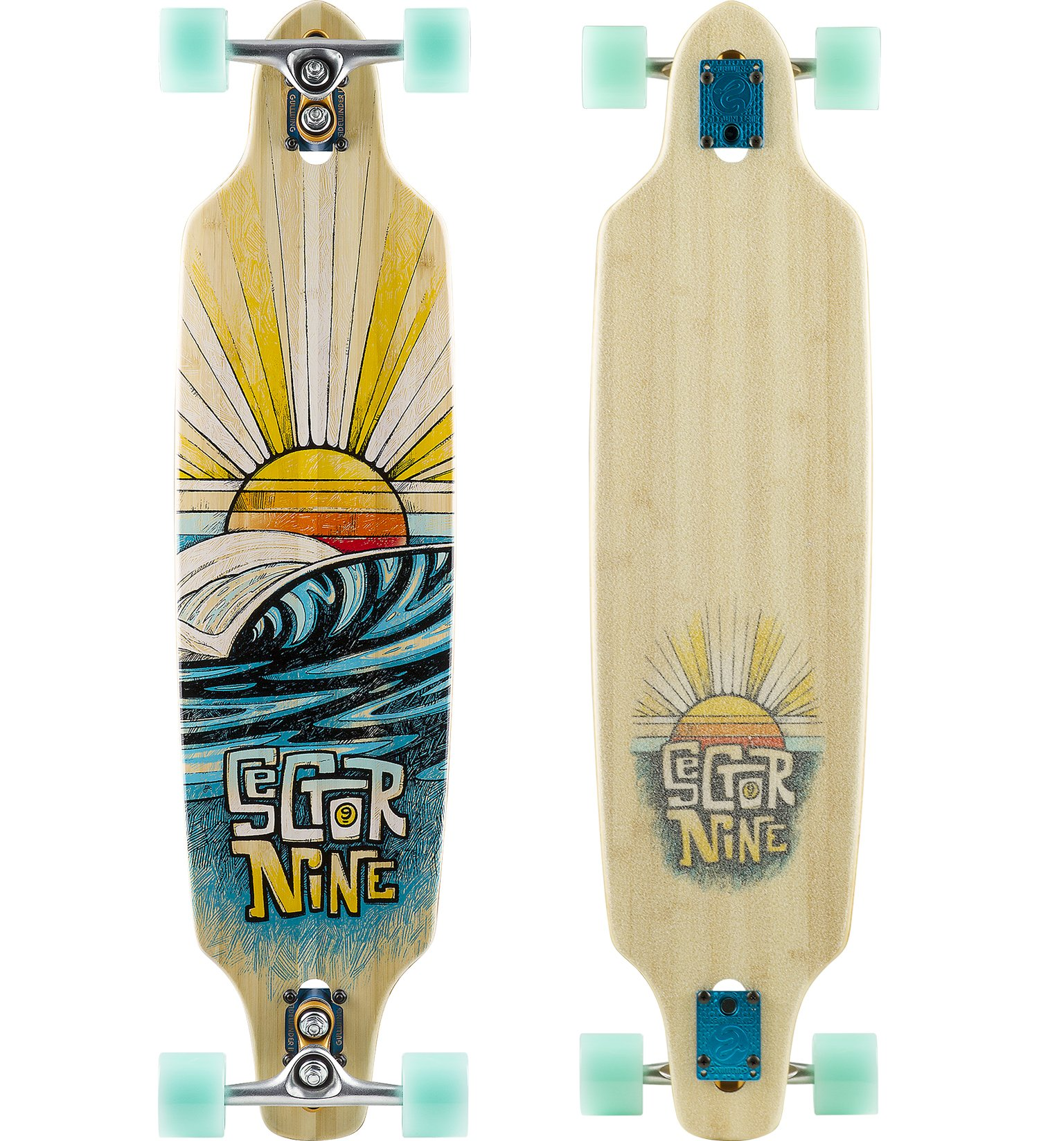 Sector 9 Sentinel Complete Skateboard, Assorted, 9.25'' x 37.5'' WB - 28.0'' by Sector 9