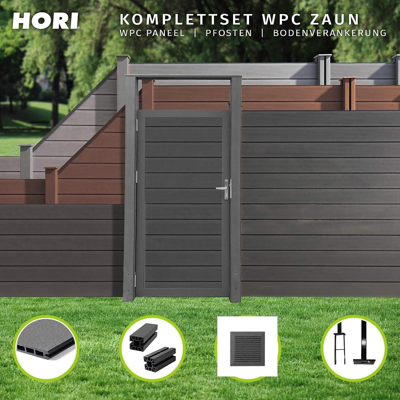Hori Wpc Zaun I Sichtschutz Zaun Steckzaun Gartenzaun