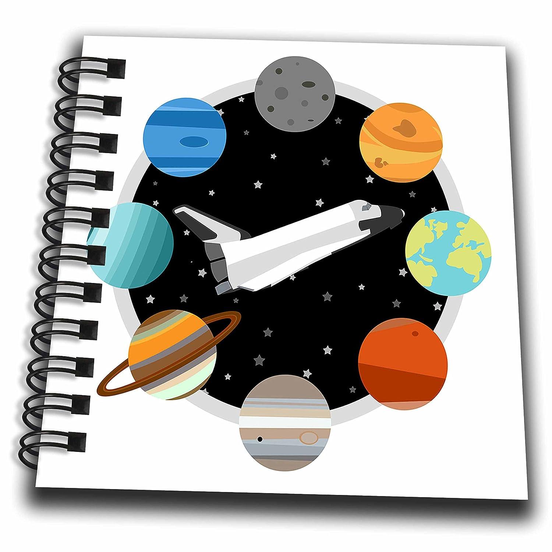 Amazon com: 3dRose Janna Salak Designs Outer Space - Space Shuttle
