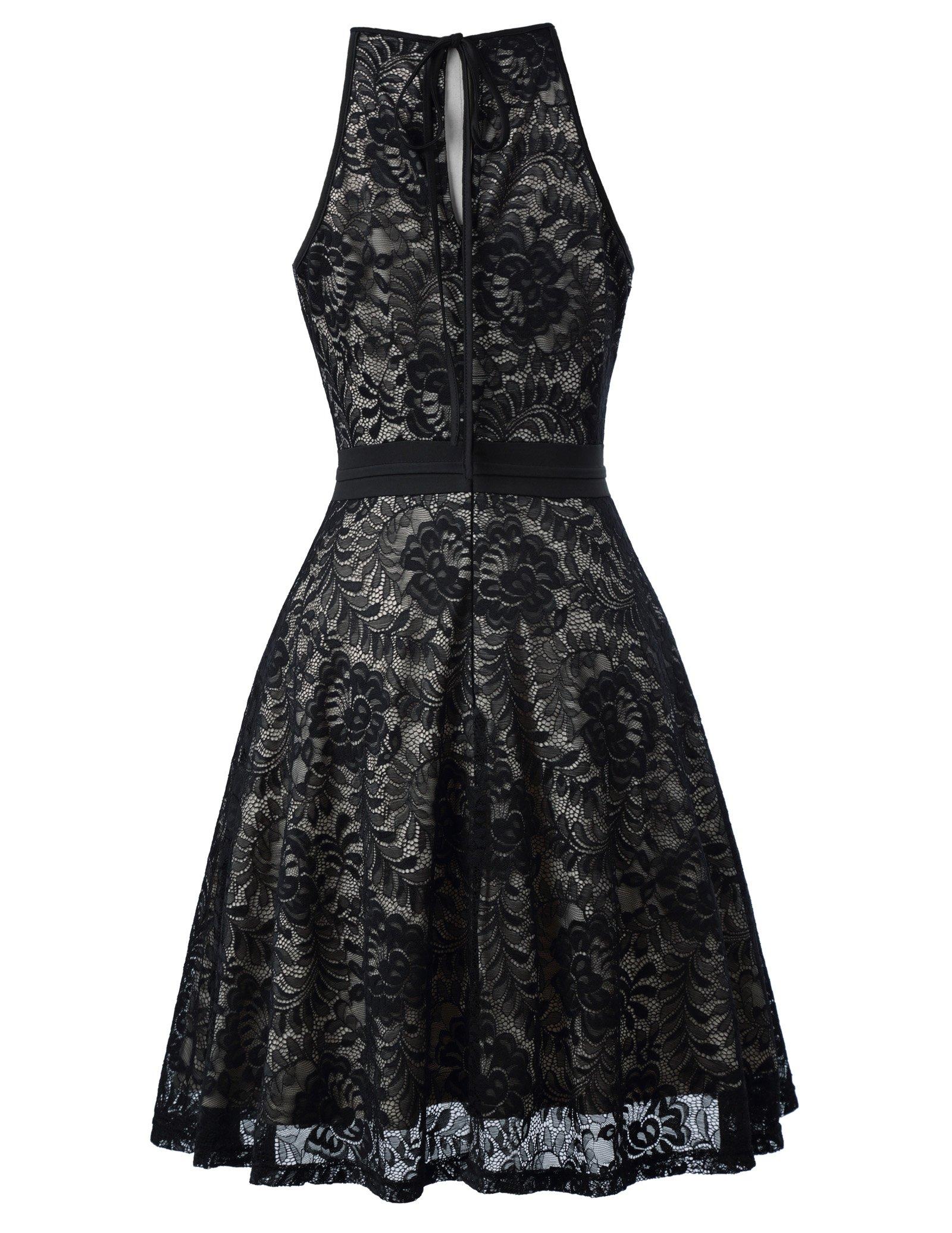 59314fbbf Kate Kasin Lace Halter Sleeveless A-Line Keyhole Wedding Party Formal Dress  KK638