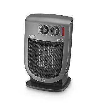 DeLonghi DCH5231 Calefactor cerámico vertical 2000 W, Acero Inoxidable/plástico, Gris: Amazon.es: Hogar