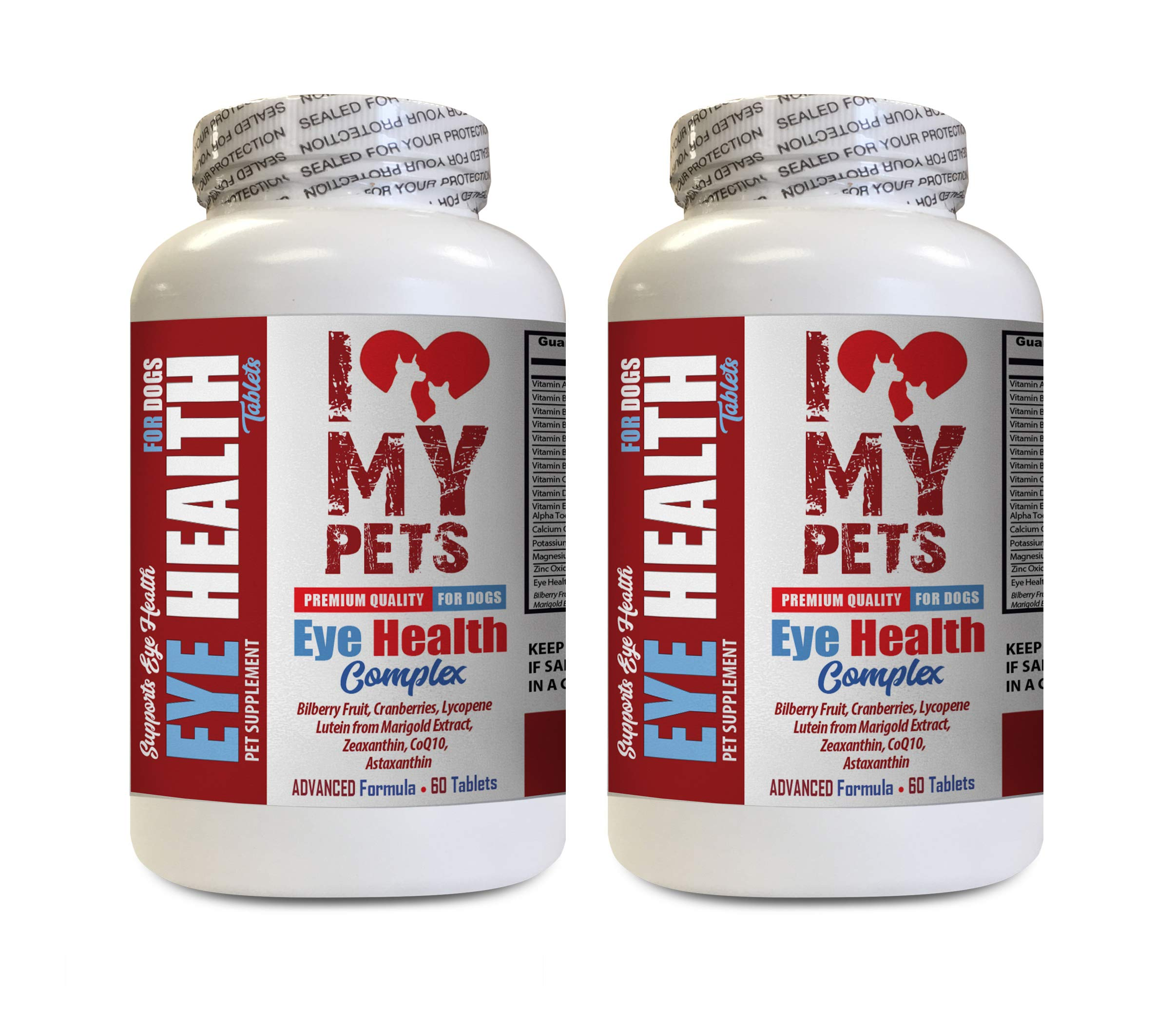 I LOVE MY PETS LLC Vitamins for Dogs Eyes - Dog Eye Health Complex - Premium Formula - Vet Recommended - Dog Fennel - 2 Bottles (120 Treats) by I LOVE MY PETS LLC