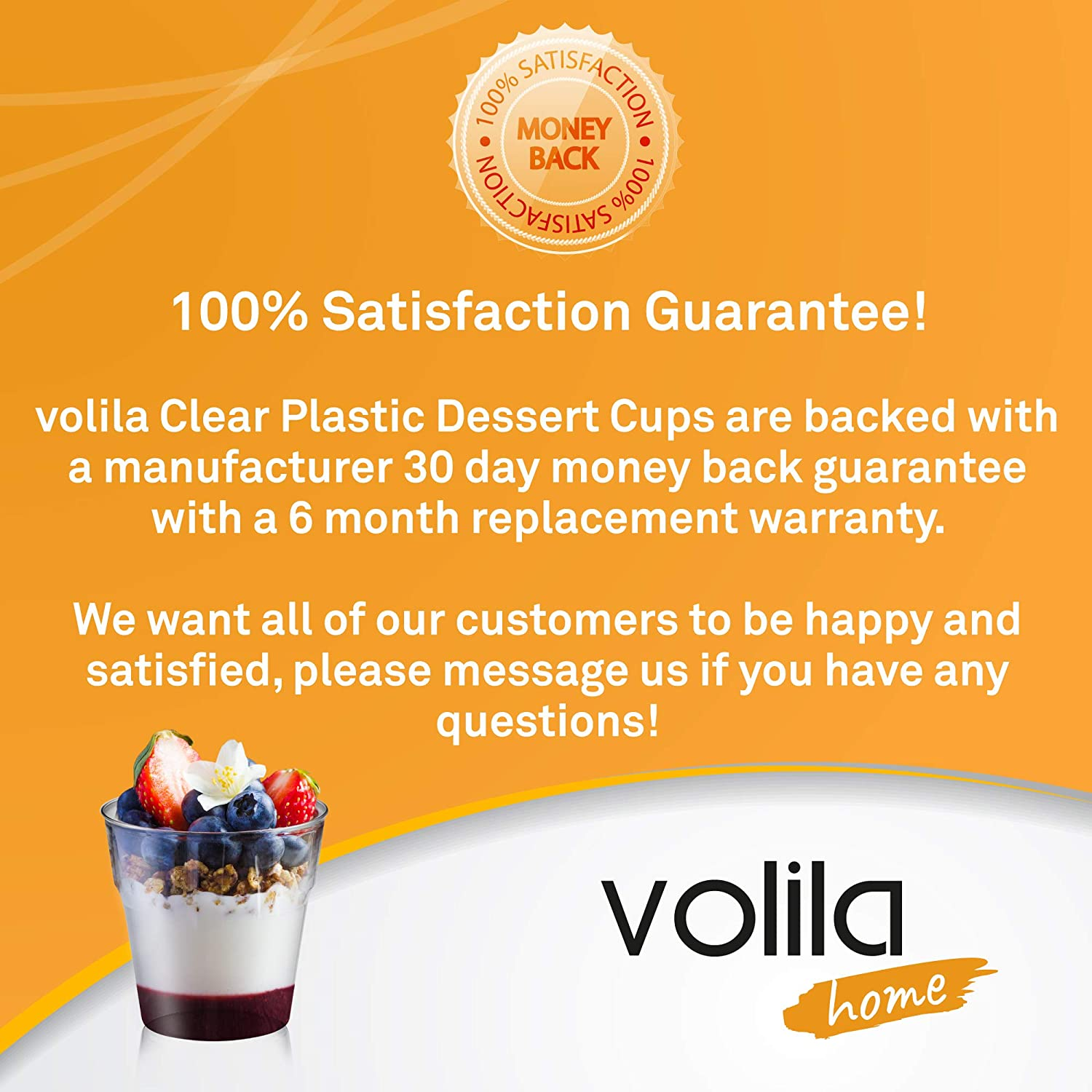 80 Pack Disposable Dessert Cups Plastic Crystal Clear Tumblers for Puddings Jelly and Desserts 5oz