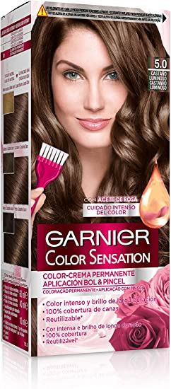 Garnier Color Sensation Coloración nº5.0 Castaño Luminoso de ...