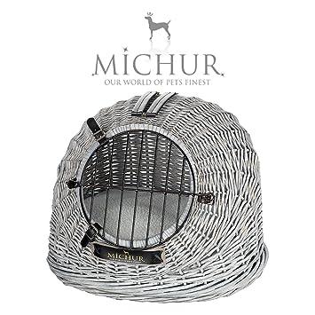 MICHUR COSMA GRIS 2.0, cesta de transporte, Cama del perro, cama del gato