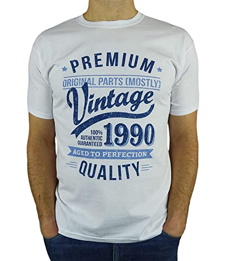 My Generation Gifts 1990 Vintage Year - Aged to Perfection - 30 Cumpleaños Años - Regalo de Cumpleaños Camiseta para Hombre