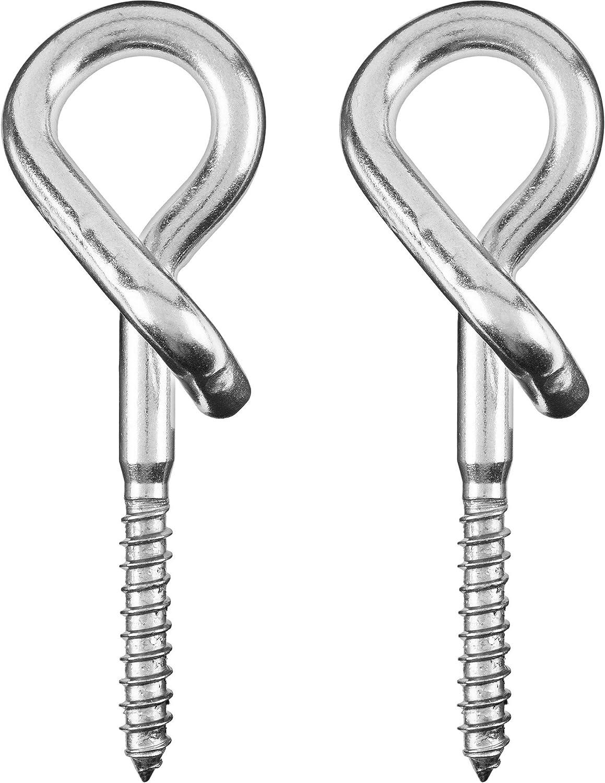 Purovi® 2x Ganchos de Seguridad para Techo | Ideal para Hamacas y ...
