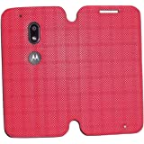 Moto G4 Play Diary Flip Cover from Mercator - Red