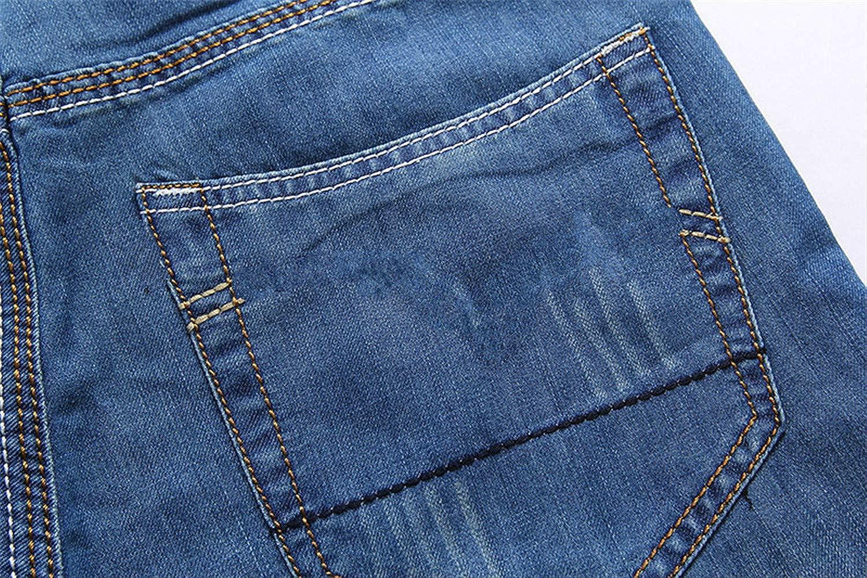 Nutsima Mens Denim Shorts Jeans Men Cotton Solid Straight Short Jeans Male Blue Casual Short Jeans
