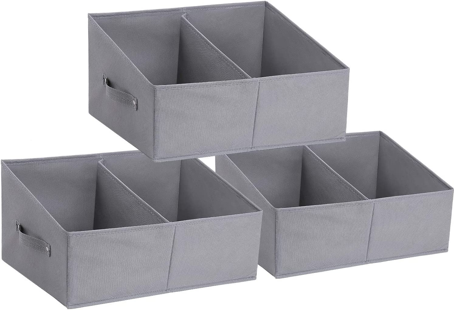 DIMJ 3 Pack Storage Box with Compartment, Foldable with Reinforced Handles WAS £14.99 NOW £7.49 with single use codes @ Amazon