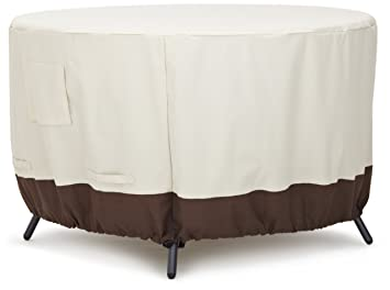 Amazonbasics Round Dining Table Outdoor Patio Furniture Cover 48 Inch