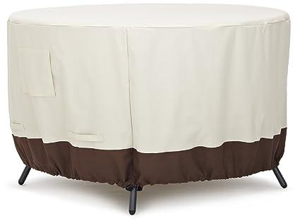 AmazonBasics Housse de protection pour table ronde 122 cm: Amazon.fr ...