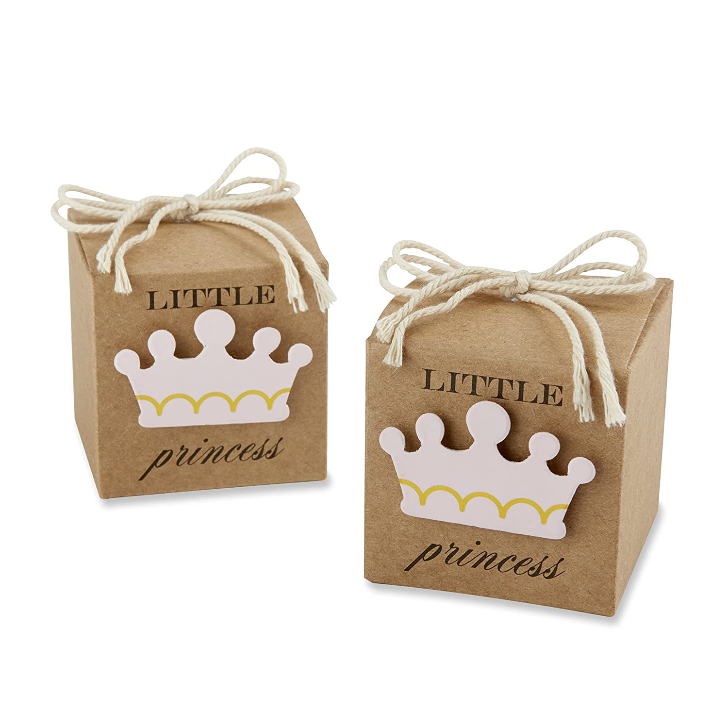 Amazon.com : Kate Aspen Little Princess Kraft Favor Box, Brown/Pink ...