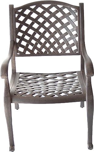 K B PATIO LD1031-1 Nassau Dining Chair, Antique Bronze