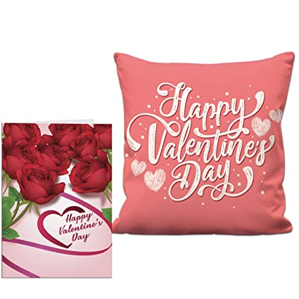 Buy Aart Store Happy Valentine Combo Gift Pack 12x12 Printed Cushion