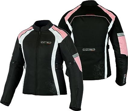 MBSmoto MJ24 Chaqueta moto moto para mujer Touring Chaqueta textil impermeable a prueba de viento (rosa bebé, 3XL)