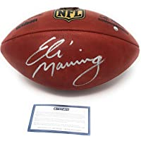 $229 » Eli Manning New York Giants Signed Autograph Authentic NFL Duke Football Steiner Sports Certified