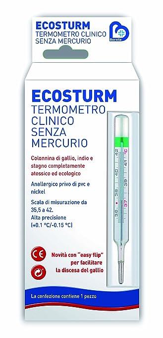 4 opinioni per Termometro clinico Eco Sturm Borella senza mercurio
