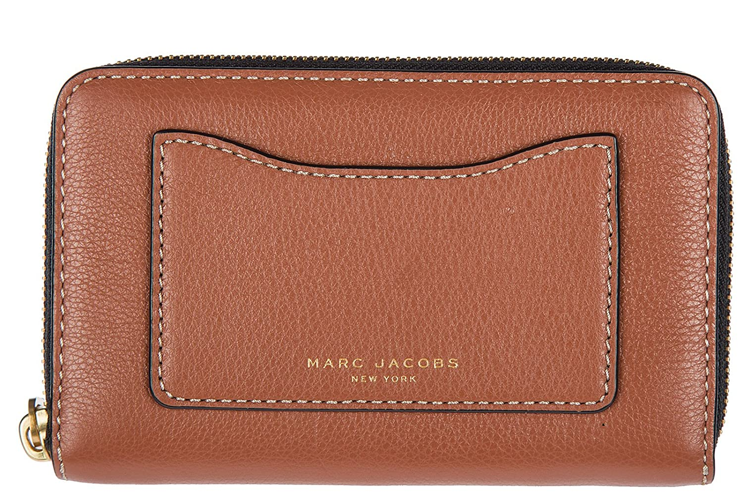Amazon.com: Marc Jacobs Women\'s Recruit Zip Phone Wristlet Cognac ...